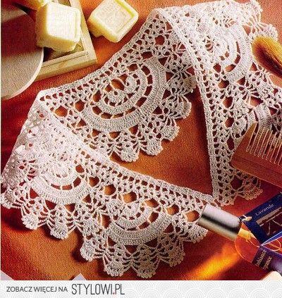 97 Best Konierzyki Na Szydeku Images On Pinterest Crochet Lace
