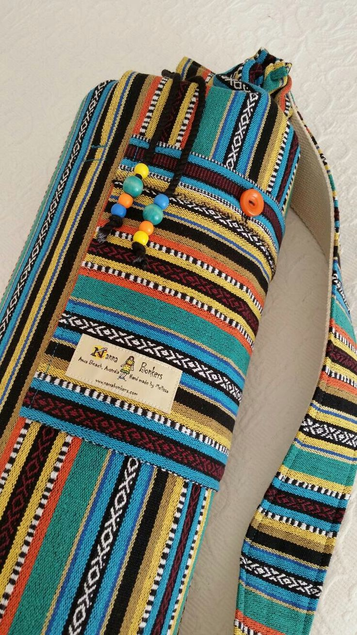 Yoga mat bag - Mexican textiles by NannaBonkers