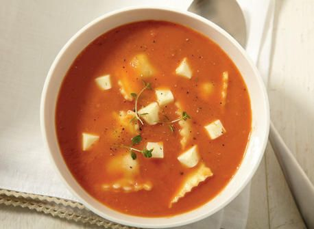 Tomato Soup with Havarti and Ravioli #cdncheese #simplepleasures