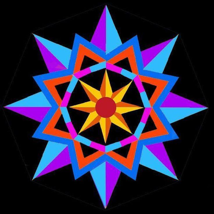 Sun Star paper pieced block | Barn quilt patterns, Quilt ...