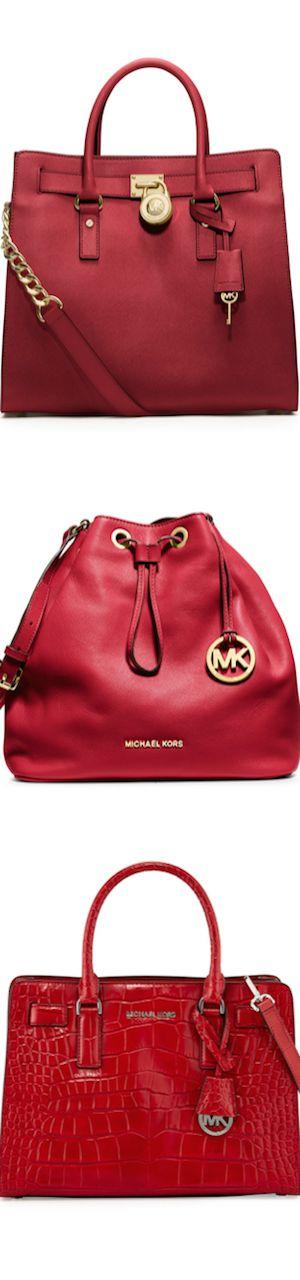 Michael Kors ~ Red Leather Handbags, 2015