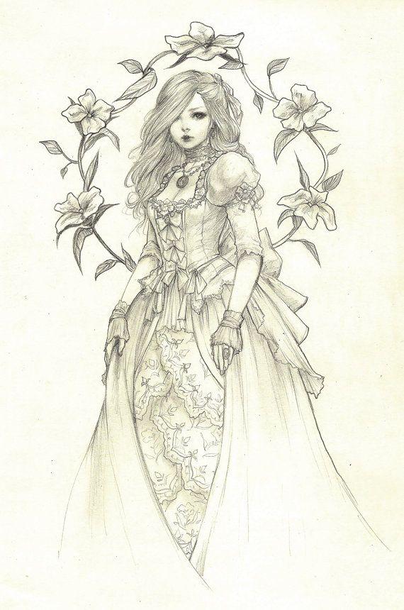 Elya Original Drawing by jasmindarnell on Etsy, $55.00