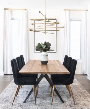 Carmen Black Velvet Dining Chair – House Ideas -…