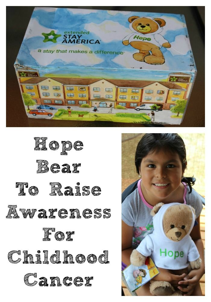 The Hope Bear For Childhood Cancer Awareness is perfect from Extended Stay America to give bears to those with cancer and to help to raise funds as well. #givehope #ad