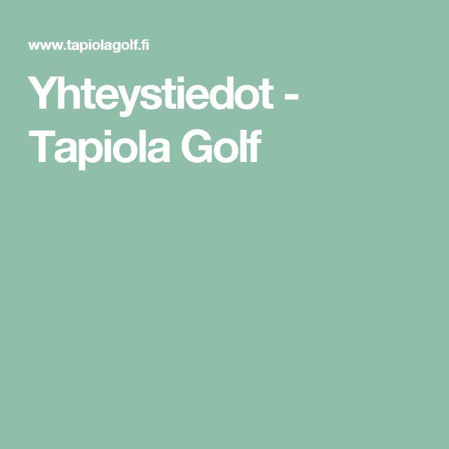 Yhteystiedot - Tapiola Golf