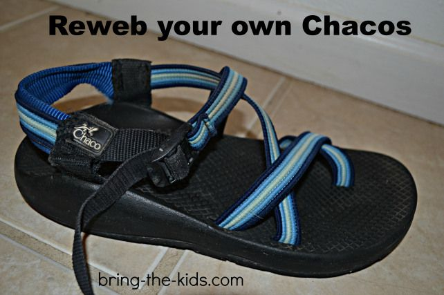 Reweb your Own Chacos for Under $5 | Bring The Kids