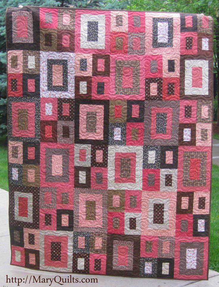 Quilt Patterns Using Squares And Rectangles : 441 best images about A QUILT SQUARE IN A SQUARE on Pinterest Discover more ideas about Fat ...