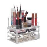 Acrylic Clear Cosmetic Makeup Organizer with 3 Drawers Perfect Gift! - The Accessory Nook  - 1