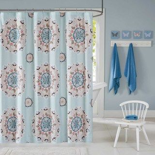 Ink+Ivy Kids Hana Blue Shower Curtain - Free Shipping On Orders Over $45 - Overstock.com - 19319300 - Mobile
