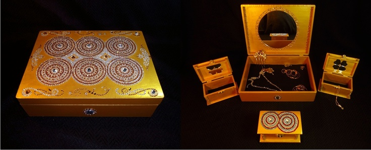Indian inspired jewellery box.  This was a custom order for an Indian bride.