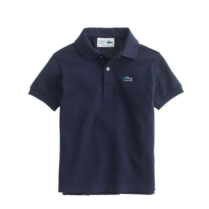 Kids' Lacoste® for J.Crew polo shirt. A navy polo should be a staple of every man's wardrobe.