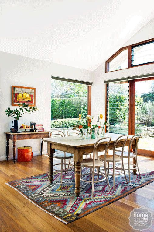 Northern sunlight pours into the home, which exudes warmth and earthiness from every corner.