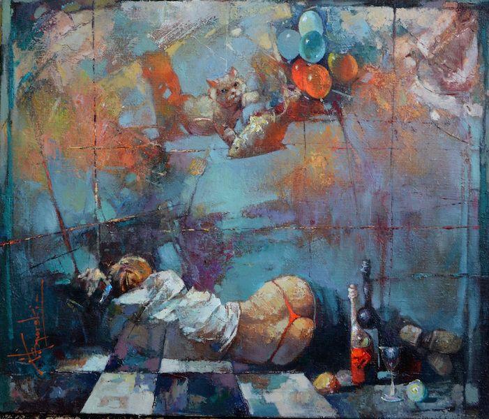 "Waclaw Sporski ""Shut-Eye"" 60х70 Oil On Canvas  sporskiart.com"