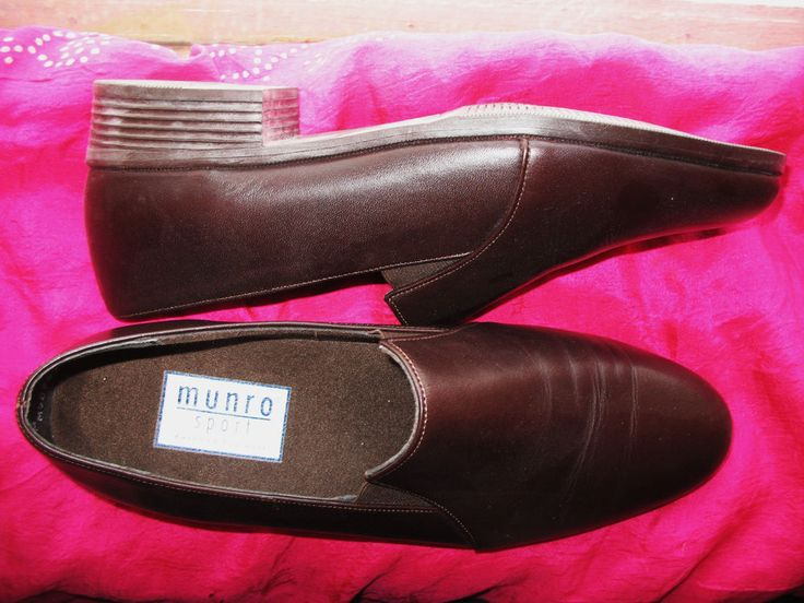 MUNRO SHOES BROWN CHOCOLATE LEATHER LOAFERS ! S 8 N/38,5 !MADE IN USA ! #MUNRO #LoafersMoccasins