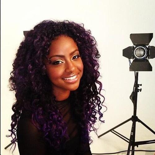 Justine Skye Justine Skye Pinterest Purple Black