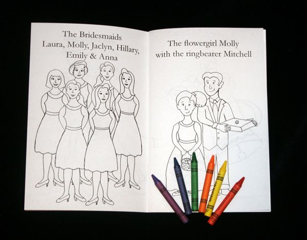 Personalised Wedding Coloring Books for the kids.