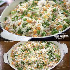 Que tal reaproveitar as sobras de arroz e preparar um delicioso ARROZ YAKIMESHI? Flocos de ovos mexidos, cenoura, presunto e cebolinha picada, vão dar um UP ao arroz já cozido! Emoticon wink Fácil de fazer. http://www.montaencanta.com.br/acompanhamentos/arroz-yakimeshi/