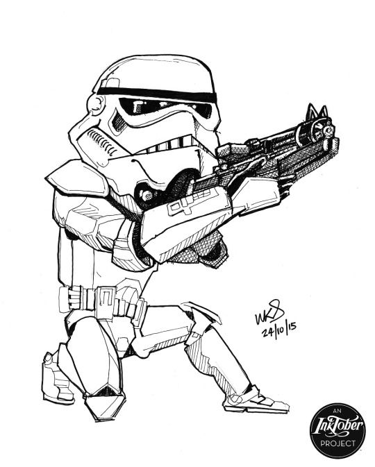 @MrSmithMachine - #inktober Day 24: Stormtroopers be like pew pew (and still miss)