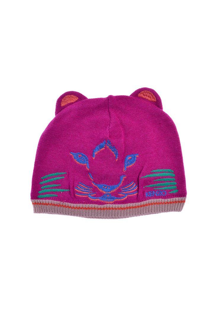 Kenzo Kids - шапка с оригинальными вставками и фирменной вышивкой http://oneclub.ua/shapka-16290.html#product_option22