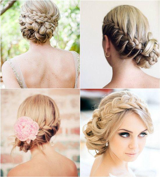 braided updo wedding hairstyle ideas