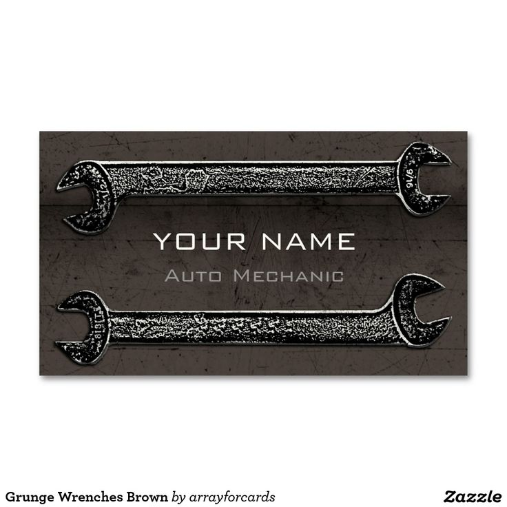 Grunge Wrenches Brown Business Card Grunge Wrenches