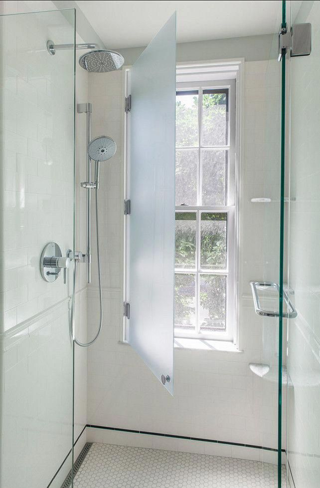 What A Cool Idea Have Your Window In The Shower And Protect It With A Glass Shutter Window In Shower Bathroom Makeover Bathroom Windows