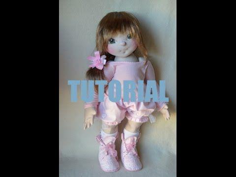 Tutorial - Parte 07 - Como montar una muñeca soft y como poner el pelo de una muñeca soft - YouTube