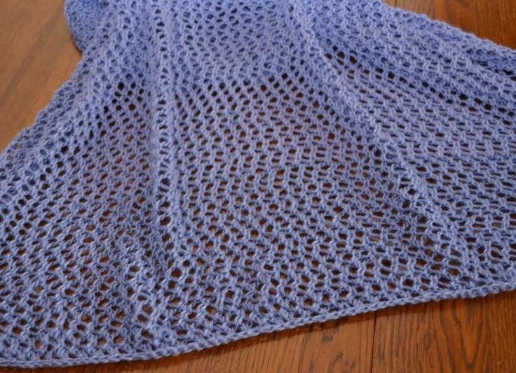 Purple Stitch Project Eyelet Shawl  Donated/designed by Sarah E. White