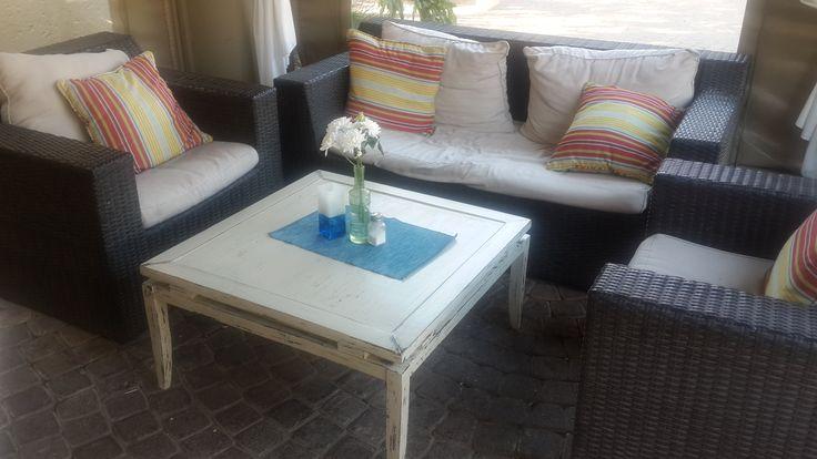 Distressed Coffee Table, got a new home - Riverglades Estate Bistro Restaurant