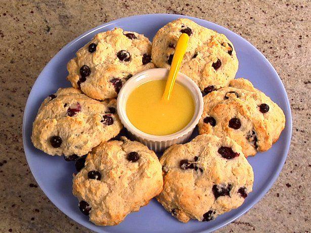 Blueberry Scones with Lemon Glaze | Recipe