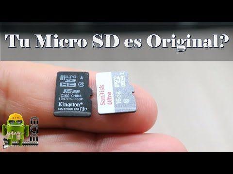 Como Saber Si Tu Micro SD es Original y Test Velocidad Lectura/Escritura