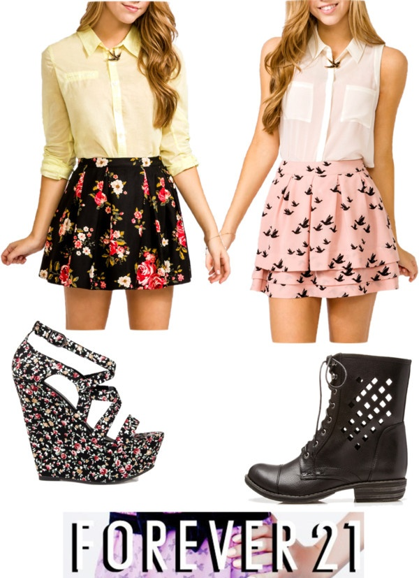 """""""forever 21"""" by maiz-loves-johnny ❤ liked on Polyvore"""