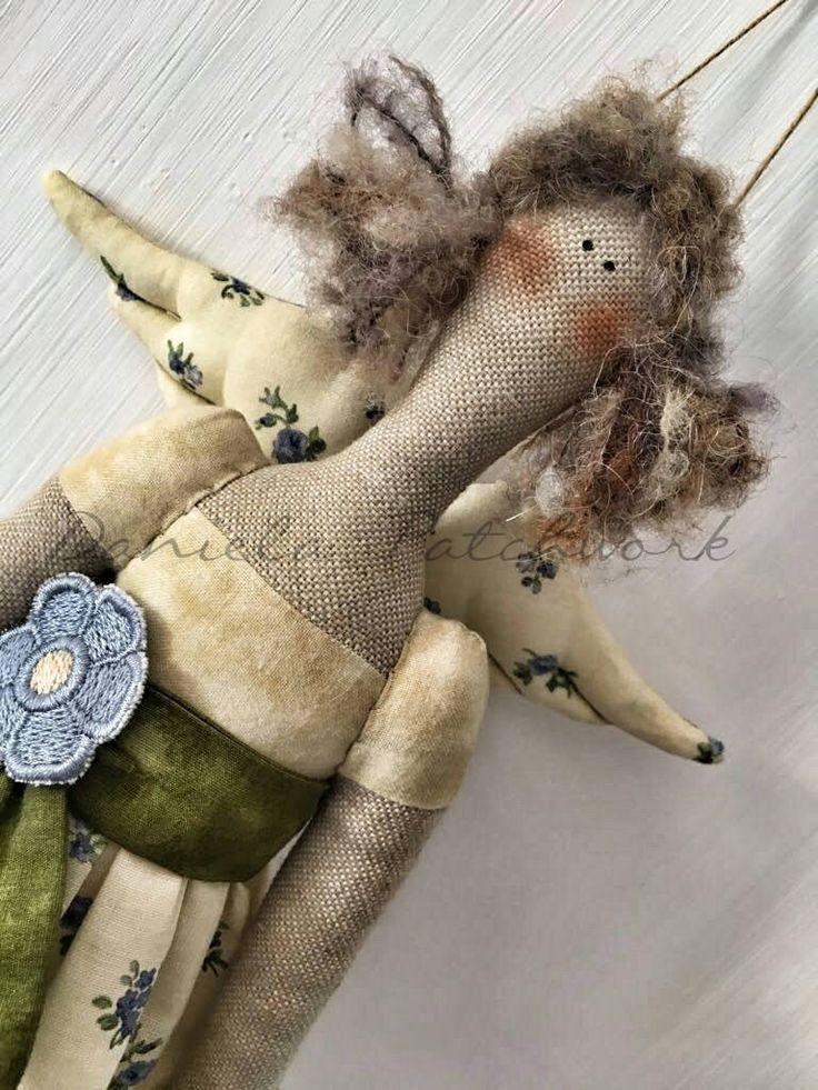 Tilda doll, Bambola country, Arredo cameretta. di DanielaPatchwork su Etsy