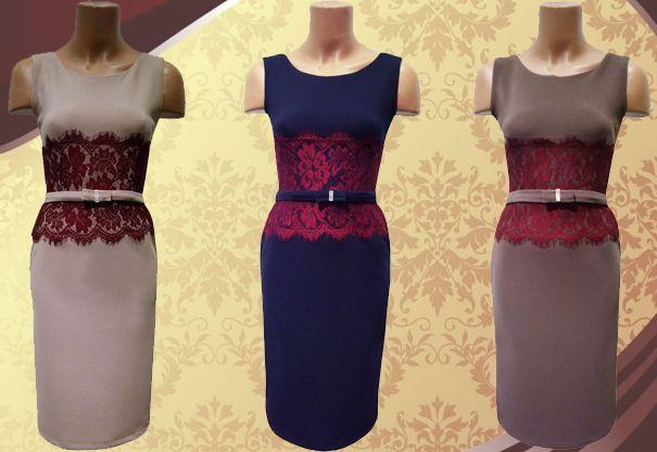 La Adrom Collection a sosit această rochie cu inserții de dantelă grena în dreptul taliei. Aceasta se poate achiziționa online în sistem en-gros de aici: http://www.adromcollection.ro/rochie-angro-R434