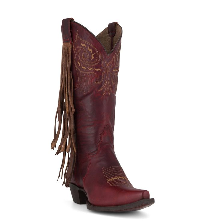 Allens Boots Women's Tony Lama Boots Red Tripoli #VF3048