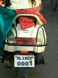 7) Even the number plates can make you uncomfortable.