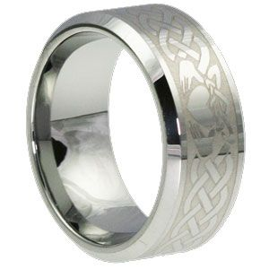 find this pin and more on stuff for events weddingpartiesdinners the tungsten carbide claddagh ring - Mens Claddagh Wedding Ring