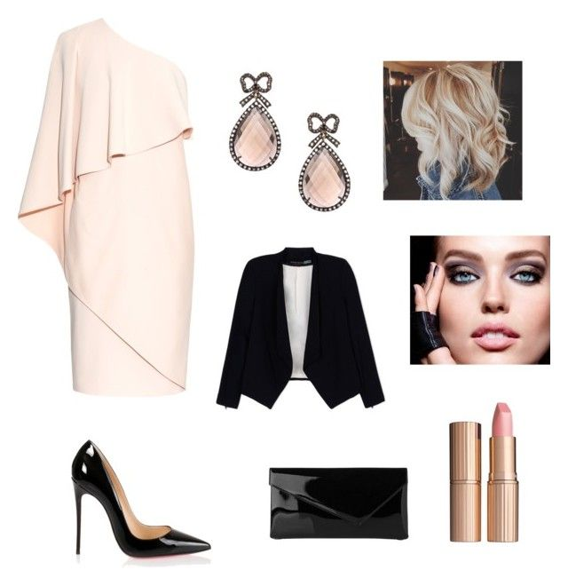 """""""lets go out tonight"""" by stellast on Polyvore featuring Givenchy, Christian Louboutin, L.K.Bennett, Haridra, Charlotte Tilbury and Alice + Olivia"""