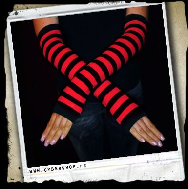 ArmWarmers -Stripes -Red/black -C/2/2