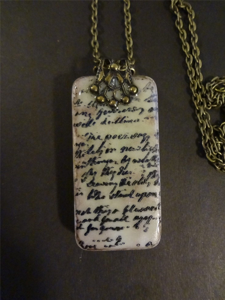 Lost+Love+Letter+Domino+Pendant+++Repurposed+by+pendantparadise,+$11.95