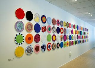 French knitted art installation