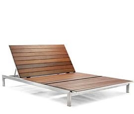We're shopping for a double-chaise. This one is gorgeous! But out of our price range. Seen any great ones out there?: Stainless Outdoor, Outdoor Furniture, Plants Gardens Outdoors, Outdoor Chaise, Outdoor Entertainment