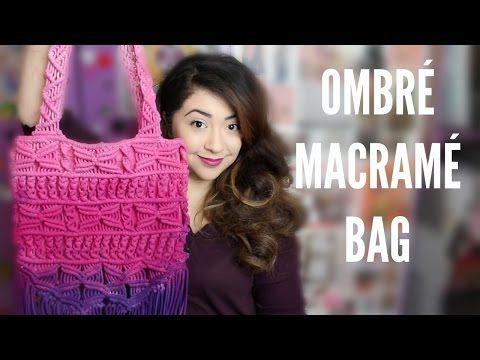 Macrame tutorial: How to make a macrame fringe bag! - YouTube
