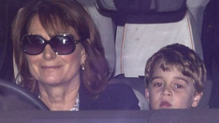 Carole Middleton mother picks up Prince George from school