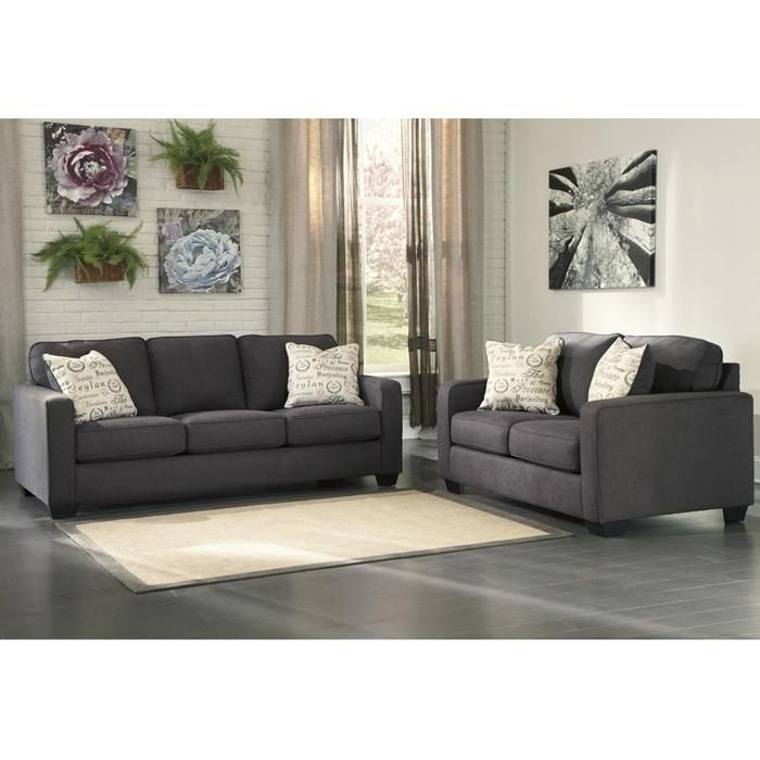 Alenya Loveseat in Charcoal Nebraska Furniture