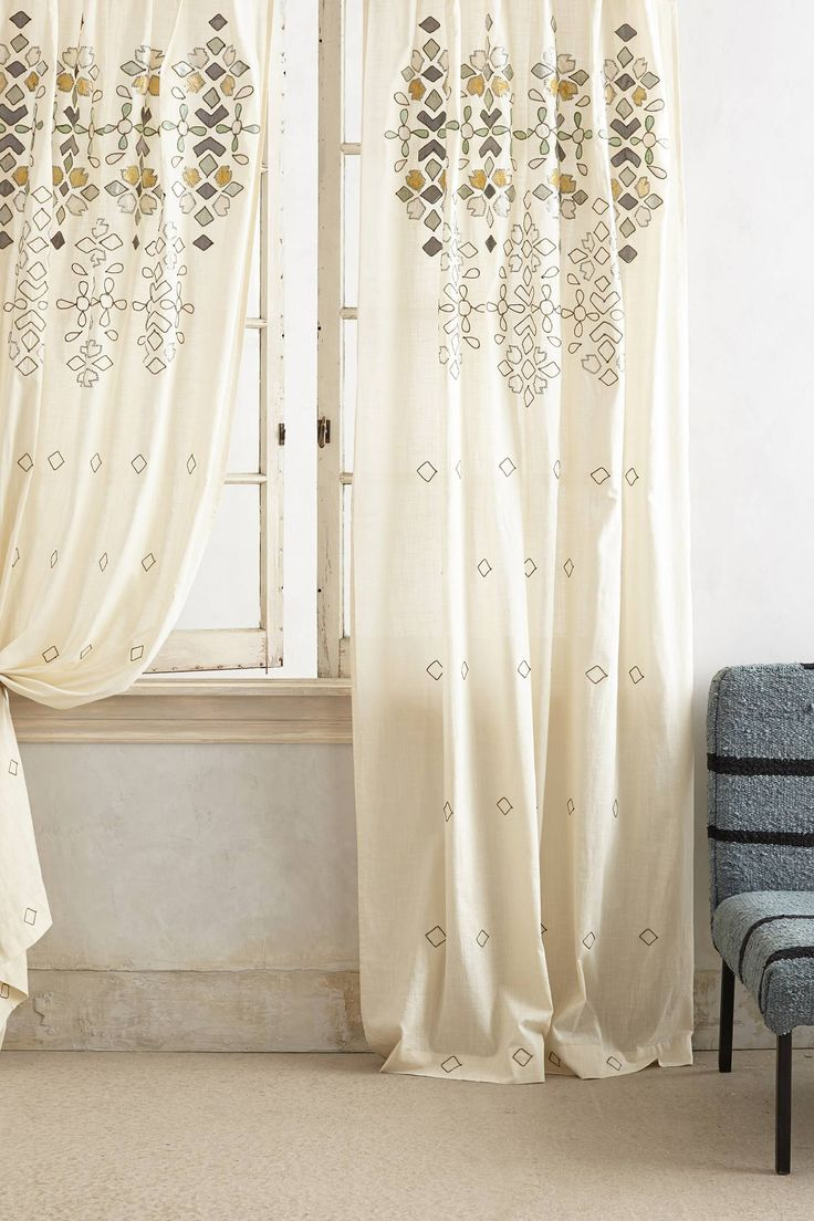 i realize we're SO far away from window treatments... but i thought these were cute /// Sequined Curtain | Anthropologie