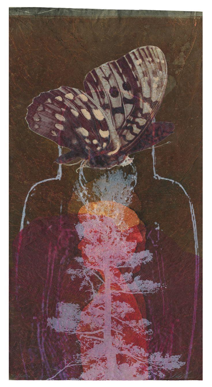Stephanie Hunder, Born: Minnesota, Reflection, serigraph, 32 x 19 inches