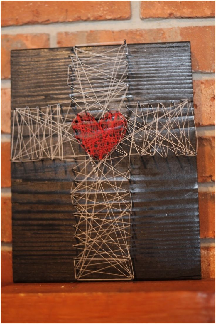 Cross string art. Clothes pin prayer requests to the cross for youth room