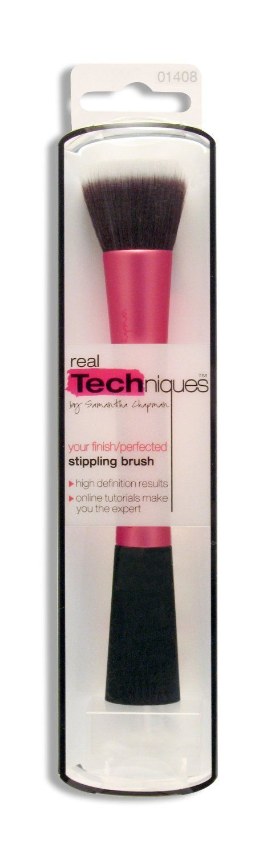 Women's Handle Makeup Brush Set Kabuki Powder Foundation Blusher Cosmetics Brushes Kit Luxury Gift RT Stippling Brush. Real Techniques Stippling Brush.