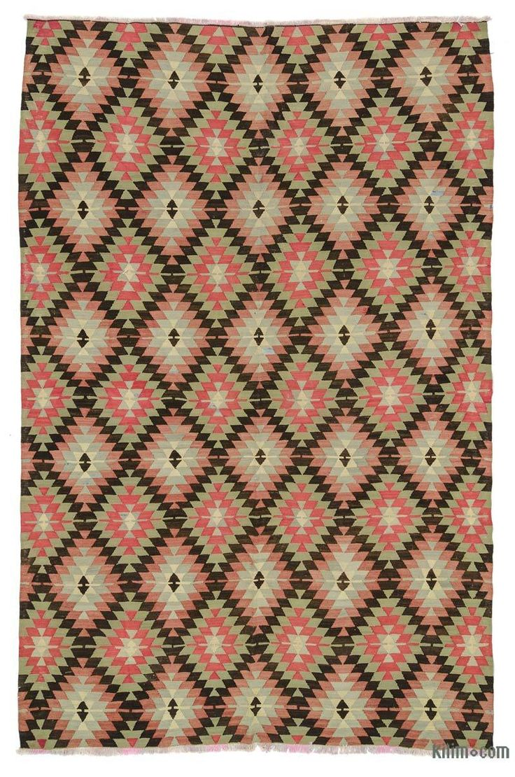 K0025127 Vintage Turkish Kilim Rug | Kilim Rugs, Overdyed Vintage Rugs, Hand-made Turkish Rugs, Patchwork Carpets by Kilim.com